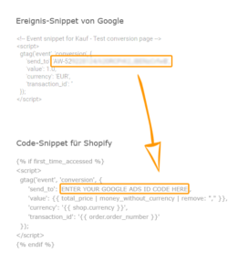 Shopify Snippet Anpassung 261x300